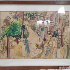 """Arte: """"CIUDAD"""" DE 1978. CERA SOBRE PAPEL.. Lote 269394618"""