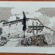 Art: MOLINS DE REI. MASIA CAN RABELLA. DIBUJO ORIGINAL. AMIGO, 1965. Lote 269810263