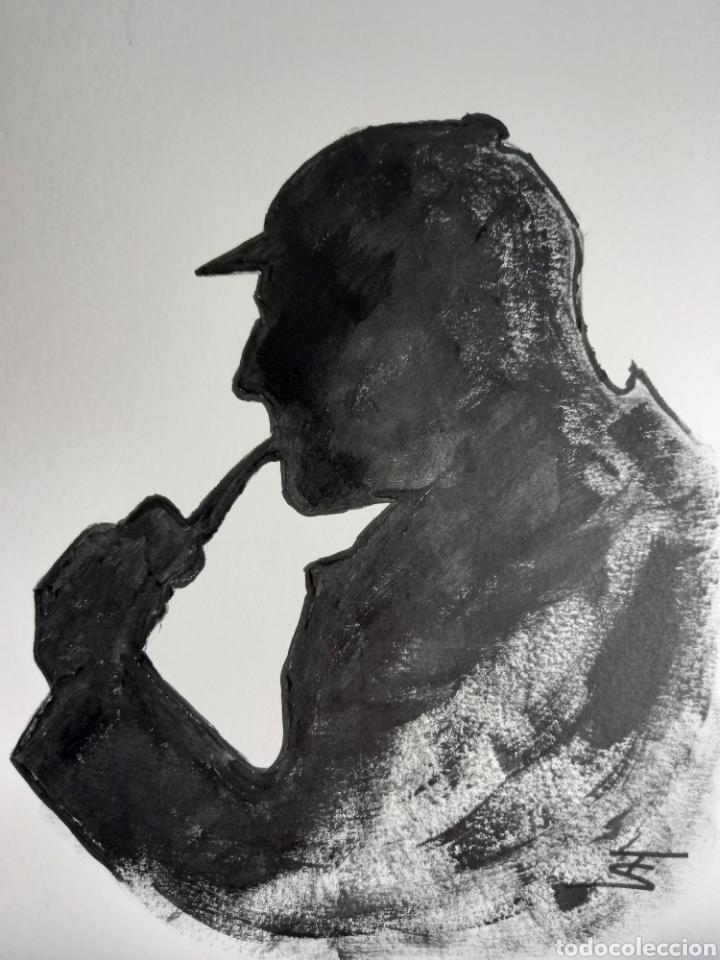 Arte: Sherlock Holmes. Obra original - Foto 2 - 273624963