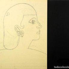 Arte: EDUARDO ARROYO GRAN OBRA DIBUJO ORIGINAL CARBONCILLO Y GRAFITO FIRMADO Y FECHADO DINERO 1989. Lote 264324460