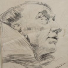 Arte: ANTONI CASANOVA ESTORACH (1847-1896) - FRAILE - DIBUJO - 31 X 25 CM.. Lote 274227958