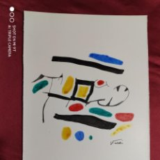 Arte: DIBUJO ORIGINAL. SERIE ARCO IRIS. TINTA CHINA Y PINCEL. FIRMADO. V. FARRRES. Lote 274437368