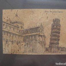 Arte: TORRE DE PISA Y DUOMO SOBRE CORCHO. Lote 274563788