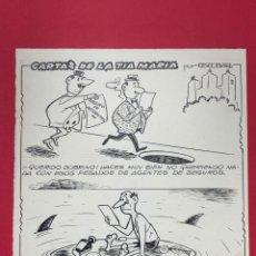 Art: DIBUJO ORIGINAL A TINTA DE ESCOBAR. VIÑETA CON DOS CHISTES. Lote 274611518