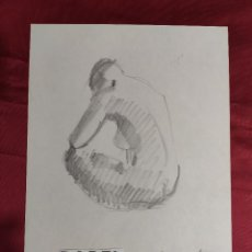 Arte: DIBUJO ORIGINAL. PAPEL. LAPIZ. FIRMADO. O. JUNYENT. Lote 274639303