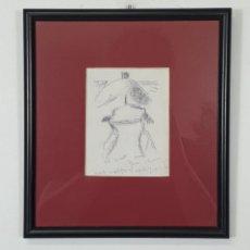 Arte: JOAN CLAPERA MAYÀ (OLOT 1929 - 2018) - DIBUJO CON FIRMA Y DEDICATORIA. Lote 275100093
