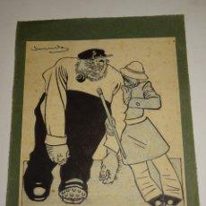 Arte: DIBUJO ORIGINAL DE J.G. JUNCEDA PUBLICADO EN LA EDITORIAL MUNTAÑOLA CHISTES ILUSTRADOS AÑOS 20. Lote 275479183