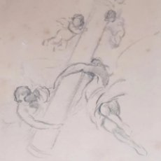 Arte: DIBUJO BOCETO DE FRESCO CON ÁNGELES. SIGLO XIX. LEER CONDICIONES ANTES DE PUJAR O COMPRAR.. Lote 275943373
