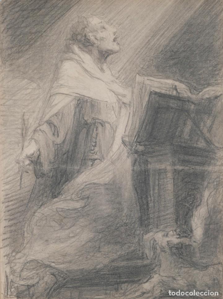 JULIO BORRELL (1877-1957) DIBUJO A LÁPIZ SANTO DOMINGO (Arte - Dibujos - Contemporáneos siglo XX)
