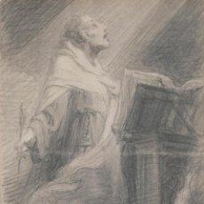 Arte: JULIO BORRELL (1877-1957) DIBUJO A LÁPIZ SANTO DOMINGO. Lote 276044898