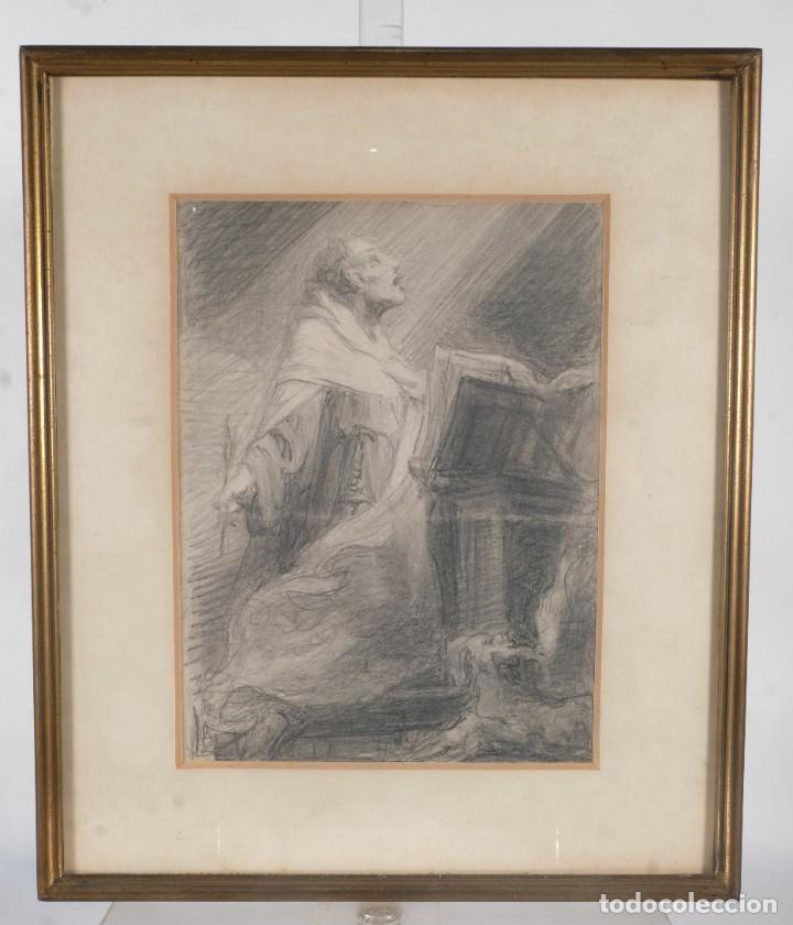 Arte: Julio Borrell (1877-1957) Dibujo a lápiz Santo Domingo - Foto 2 - 276044898