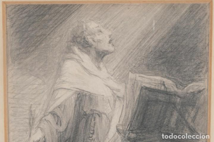 Arte: Julio Borrell (1877-1957) Dibujo a lápiz Santo Domingo - Foto 3 - 276044898