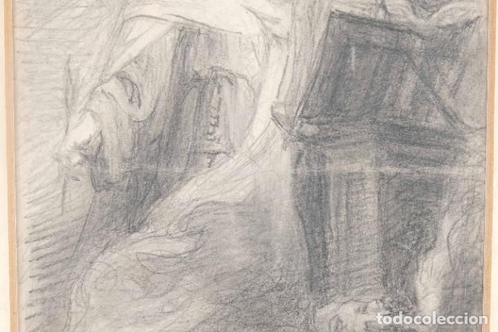 Arte: Julio Borrell (1877-1957) Dibujo a lápiz Santo Domingo - Foto 4 - 276044898