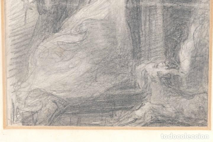 Arte: Julio Borrell (1877-1957) Dibujo a lápiz Santo Domingo - Foto 5 - 276044898