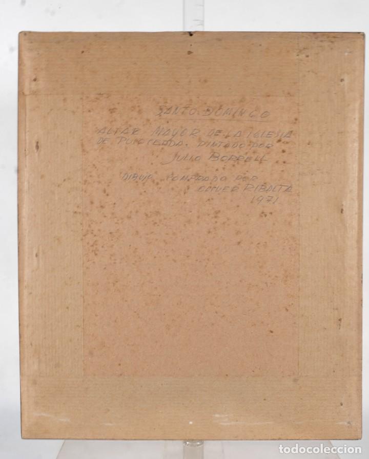 Arte: Julio Borrell (1877-1957) Dibujo a lápiz Santo Domingo - Foto 6 - 276044898