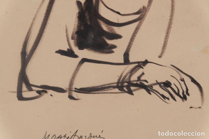 Arte: Josep Maria Morató Aragonés Dibujo a tinta Mujer Firmado y fechado 1960 - Foto 4 - 276046043