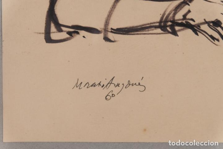 Arte: Josep Maria Morató Aragonés Dibujo a tinta Mujer Firmado y fechado 1960 - Foto 5 - 276046043