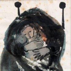 Arte: JOSÉ PICÓ MITJANS (MADRID, 1904 - 1991) TECNICA MIXTA SOBRE PAPEL. MATERNIDAD. Lote 276127108