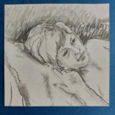 """Arte: """"APUNTE JOVEN DESCANSANDO"""". Lote 276149118"""