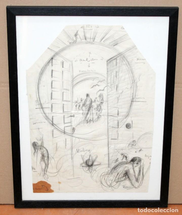 Arte: FRANCESC FERRET FARRERAS -Bruno- (Sitges, 1921 - 2000) ESBOZOS - Foto 2 - 276175823