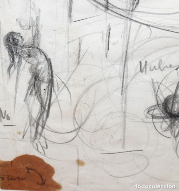 Arte: FRANCESC FERRET FARRERAS -Bruno- (Sitges, 1921 - 2000) ESBOZOS - Foto 4 - 276175823