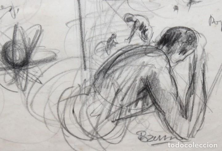 Arte: FRANCESC FERRET FARRERAS -Bruno- (Sitges, 1921 - 2000) ESBOZOS - Foto 5 - 276175823