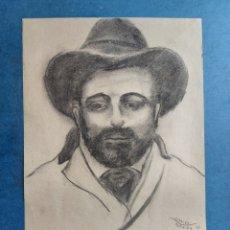 """Arte: CARLES MORALES"""" PERSONAJE CON SOMBRERO"""" 1941. Lote 276267723"""