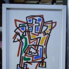 Arte: DIBUJO A TINTAS DE CHELIN A CORUÑA 1945 32X24CM. DIBUJO A TINTAS DE COLORES DEL PINTOR JOSÉ EDUARD. Lote 276316613