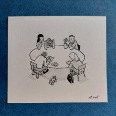 """Arte: M. COLL"""" CADA LOCO CON SU TEMA"""" ORIGINAL ILUSTRACION. Lote 276370423"""
