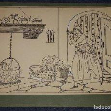Arte: DIBUJO ORIGINAL DE JOAN D'IVORI - ILUSTRACIÓN ORIGINAL PARA LA EDT. MUNTAÑOLA, AÑOS 1915 / 1920. Lote 276475723