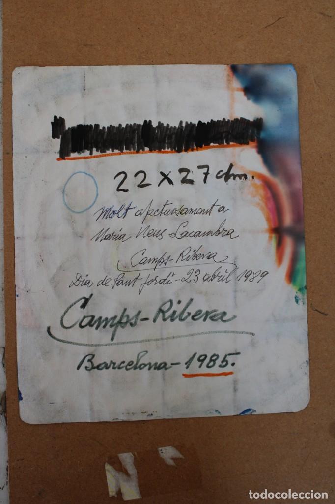 Arte: FRANCISCO CAMPS RIBERA (1895 - 1991) TECNICA MIXTA SOBRE PAPEL DEL AÑO 85. COMPOSICION ABSTRACTA - Foto 8 - 276674053