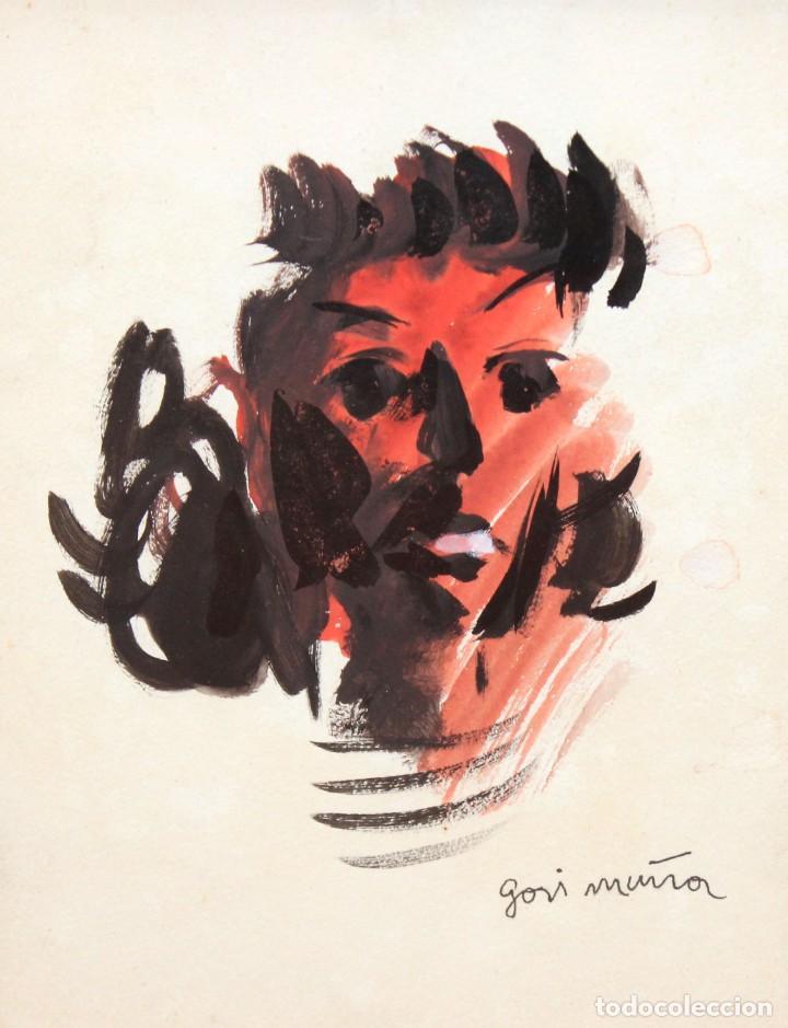 GORI MUÑOZ (VALENCIA,1906 - BUENOS AIRES, 1978) TECNICA MIXTA. RETRATO FEMENINO (Arte - Dibujos - Contemporáneos siglo XX)