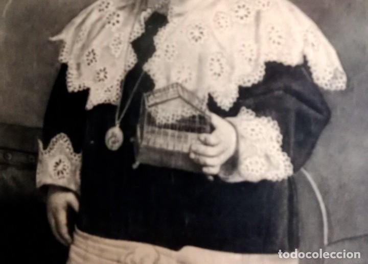 Arte: ESPECTACULAR RETRATO MUY ANTIGUO DE NIÑO A CARBONCILLO ENMARCADO HACIA 1880 - Foto 4 - 277033963