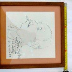Arte: FREDERIC LLOVERAS - DIBUJO DEDICADO JAUME MARTÍ VALLS. Lote 277223798