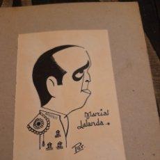 Arte: ANTIGUA CARICATURA DE MARCIAL LALANDA ,FIRMADA. Lote 277304343