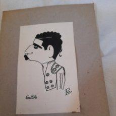 Arte: ANTIGUA CARICATURA, GALLITO,FIRMADA. Lote 277470798