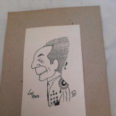 Arte: ANTIGUA CARICATURA, LUIS MATA, FIRMADA. Lote 277471373