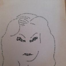 Arte: ANTIGUA CARICATURA, GRETA GARBO ,FIRMADA. Lote 277471798