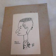Arte: ANTIGUA CARICATURA ,MANOLO ESCUDERO, FIRMADA. Lote 277472803