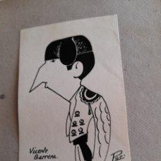 Arte: ANTIGUA CARICATURA, VICENTE BARREDA, FIRMADA. Lote 277475118