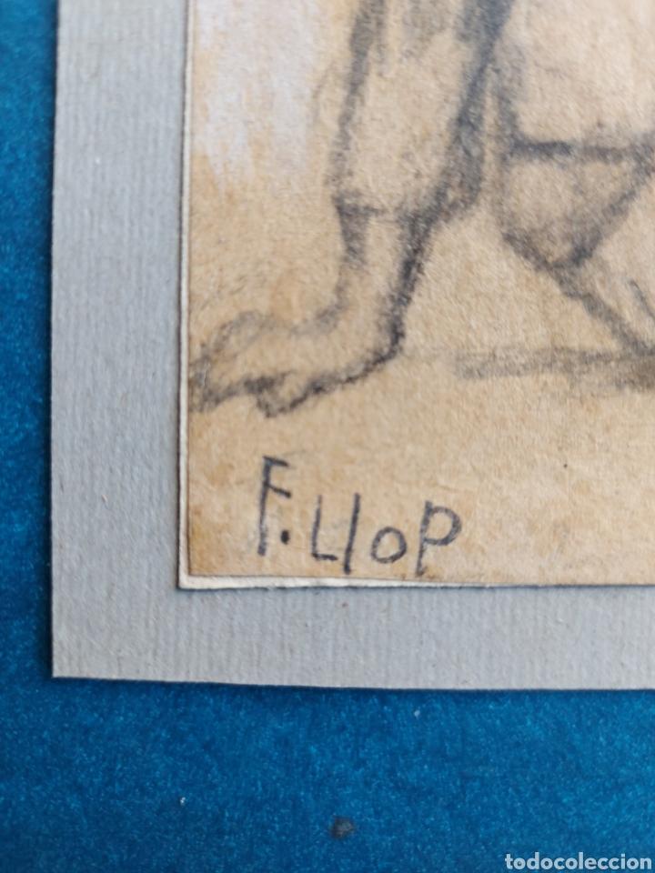 """Arte: F. LLOP APUNTE DEL NATURAL"""" NIÑOS EN LA PLAYA"""" - Foto 3 - 277621343"""