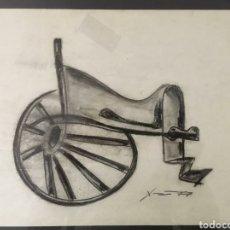 Arte: DIBUJO AL CARBON DE JOSEP M. XART I CASANOVA. Lote 277621648