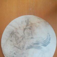 Arte: APUNTE DEL MEDALLÓN-RELIEVE DE SANT JORDI, GENERALITAT DE CATALUNYA, FAÇANA C/ DEL BISBE. CA.1900. Lote 277621963
