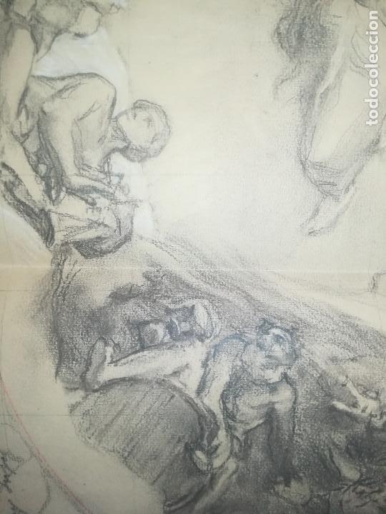 Arte: Apunte de Félix Mestres, decoración bóveda Salò Sant Jordi de la Generalitat de Catalunya. Ca1920 - Foto 4 - 277624688
