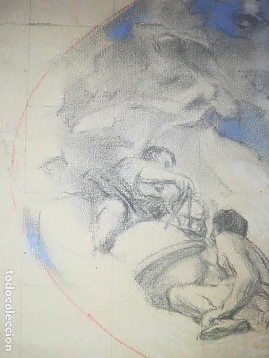 Arte: Apunte de Félix Mestres, decoración bóveda Salò Sant Jordi de la Generalitat de Catalunya. Ca1920 - Foto 6 - 277624688