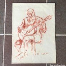 Arte: XAVIER TULLA - SANGUINA ORIGINAL AÑOS 50 FIRMADA. Lote 277626478