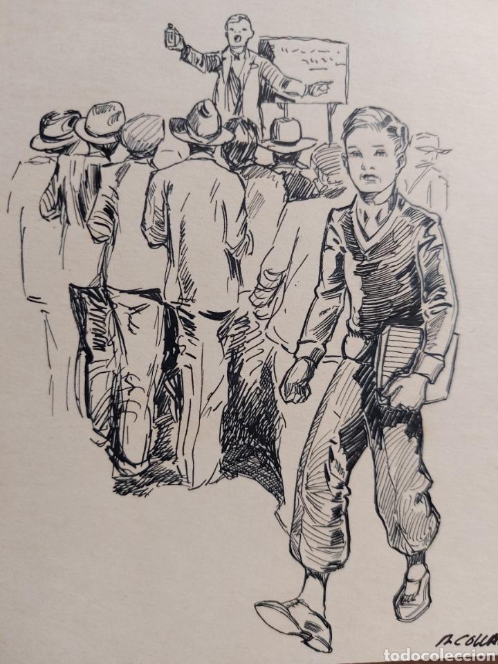 """Arte: M. COLLADO"""" ESTUDIANTE EPOCA"""" ORIGINAL ILUSTRACION 1929 - Foto 2 - 277632243"""