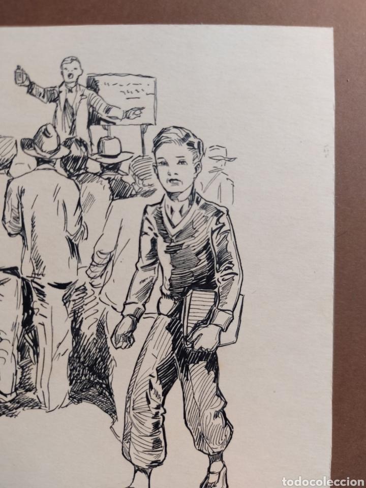 """Arte: M. COLLADO"""" ESTUDIANTE EPOCA"""" ORIGINAL ILUSTRACION 1929 - Foto 3 - 277632243"""