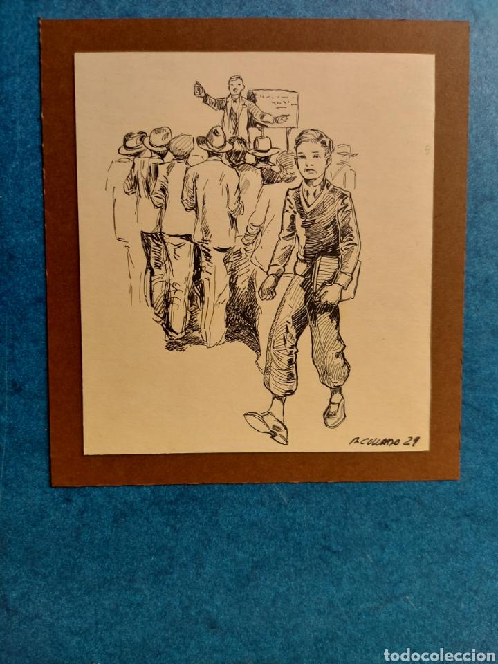 """M. COLLADO"""" ESTUDIANTE EPOCA"""" ORIGINAL ILUSTRACION 1929 (Arte - Dibujos - Contemporáneos siglo XX)"""