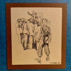 """Arte: M. COLLADO"""" ESTUDIANTE EPOCA"""" ORIGINAL ILUSTRACION 1929. Lote 277632243"""